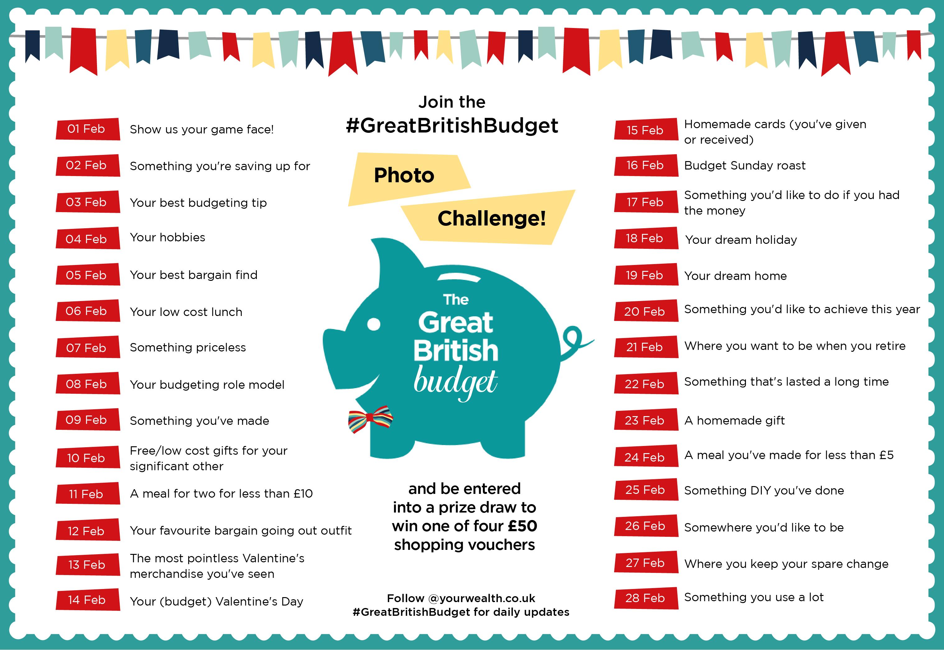 Great British Budget Feb Photo Challenge