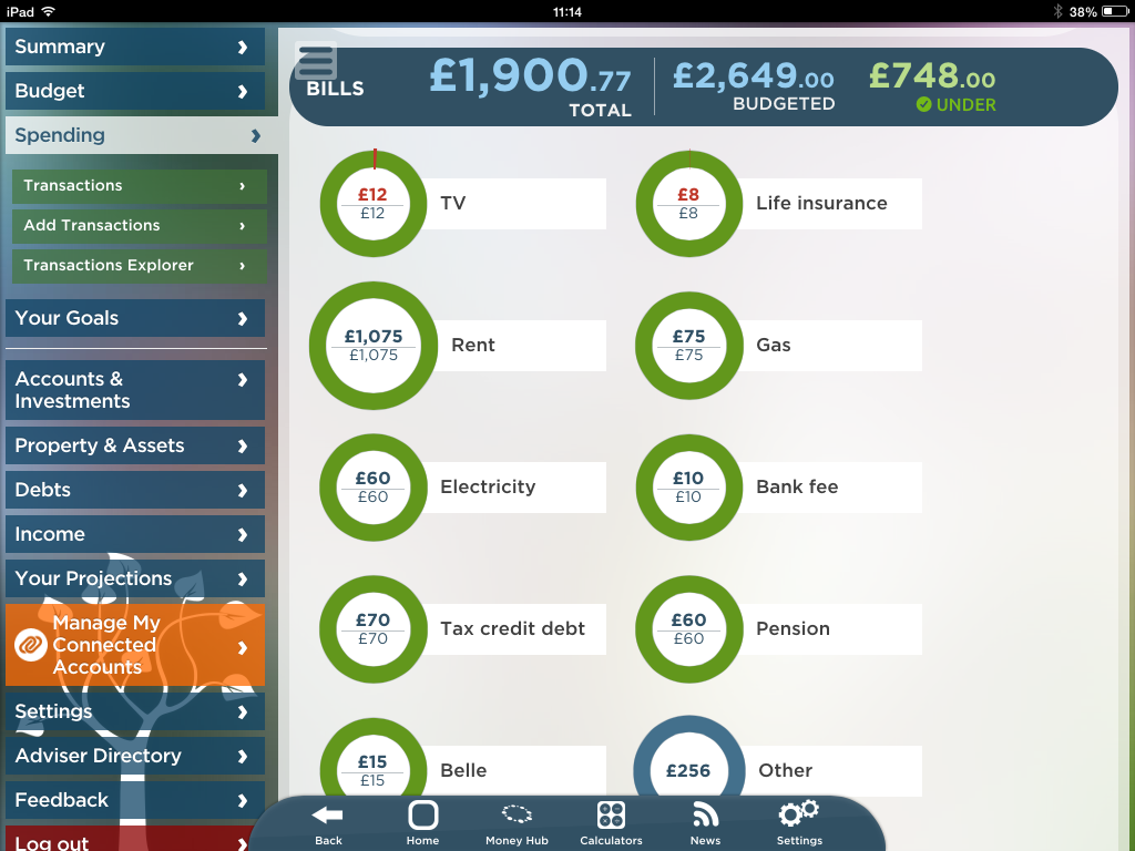 Money Hub app Great British Budget