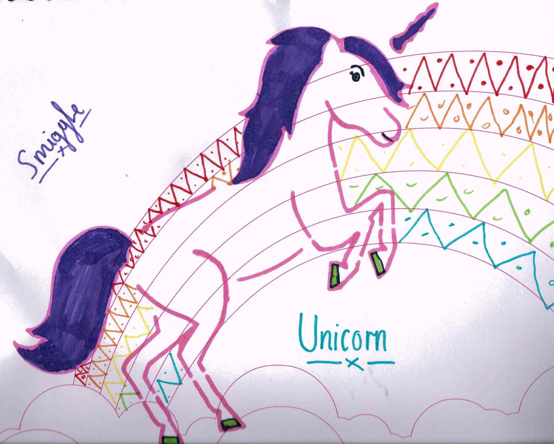 Smiggle stationery shop unicorn