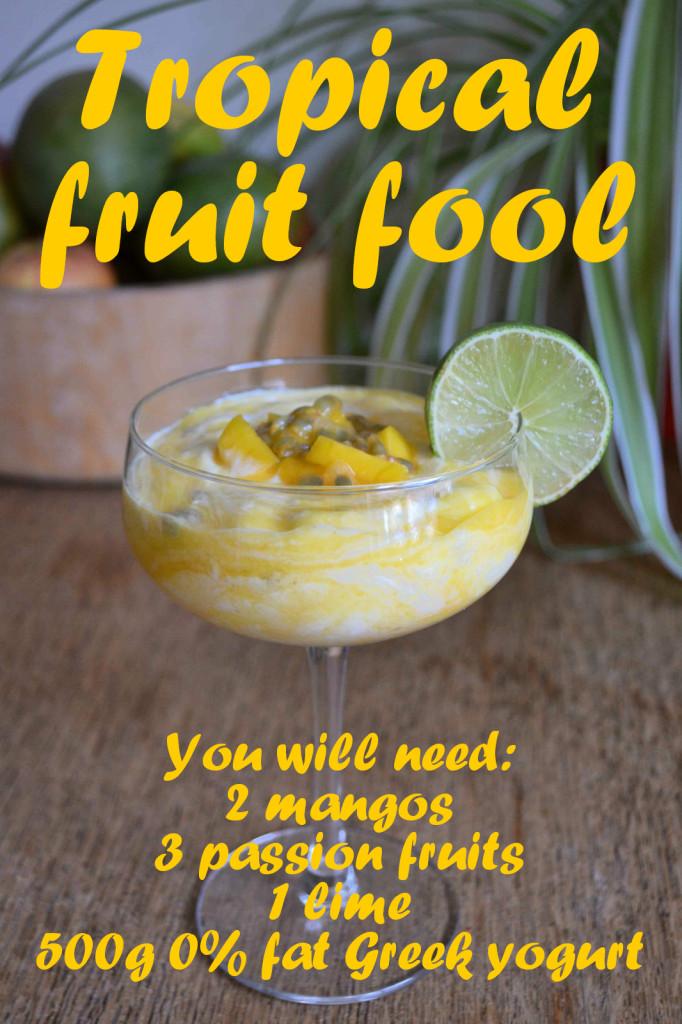 Tropical fruit fool recipe