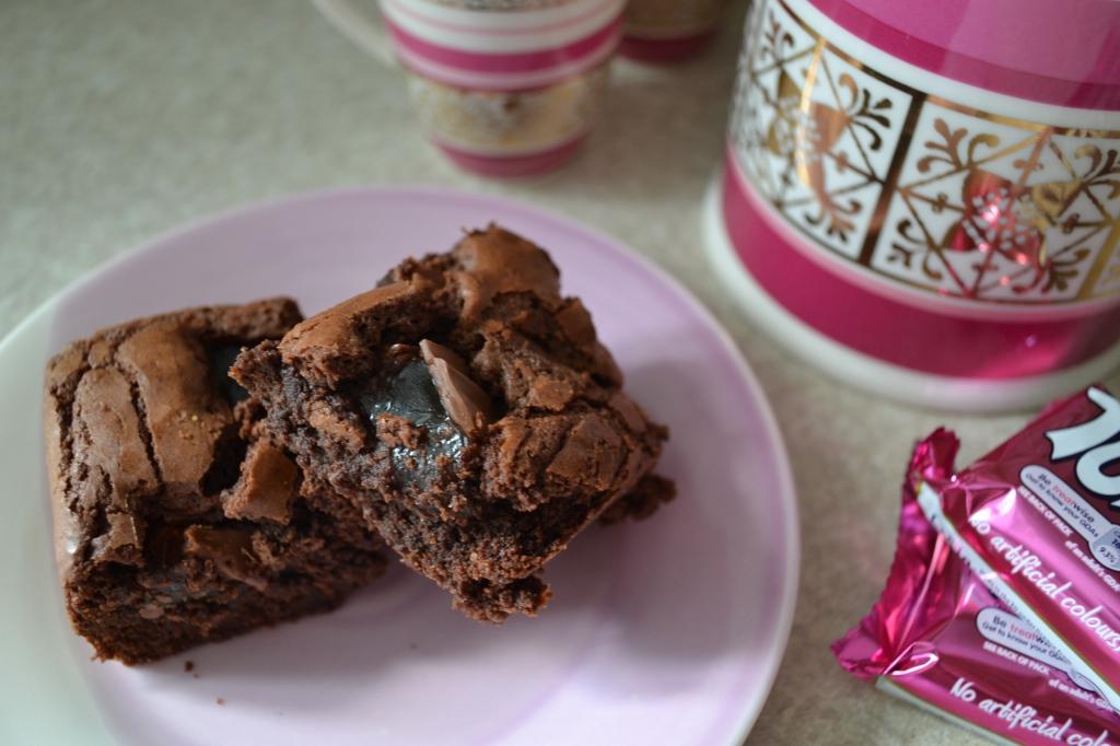 Turkish delight chocolate brownies