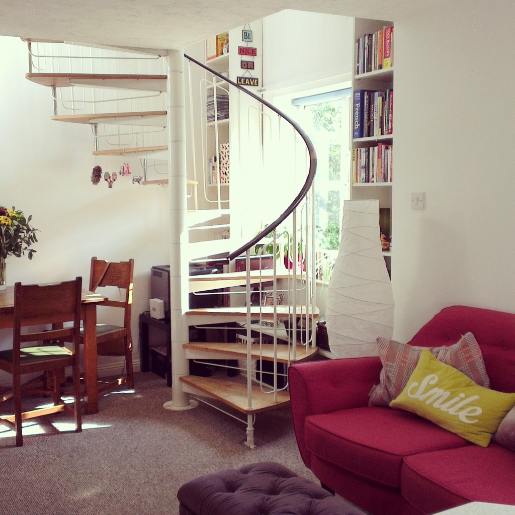 under stairs makeover
