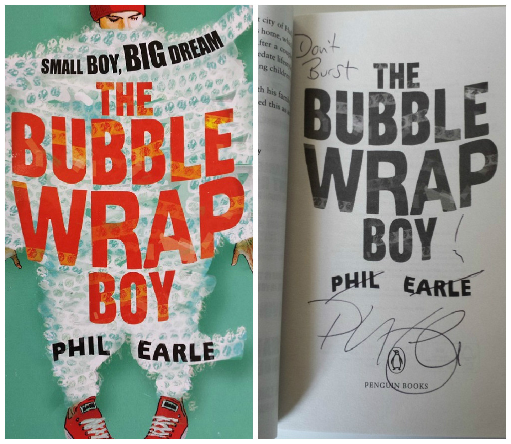 The bubble wrap boy phil earle