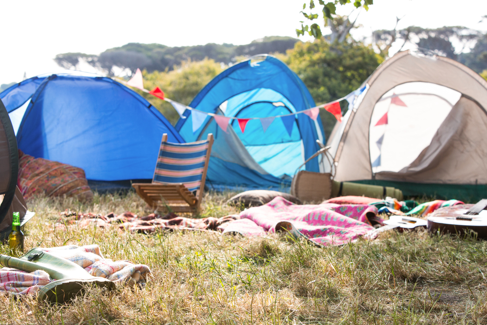 Standon Calling festival camping
