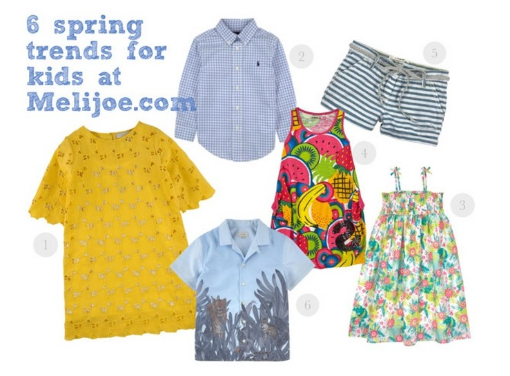Spring fashion trends for kids at Melijoe.com