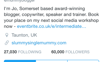 Twitter mummy blogger