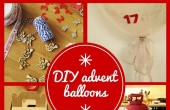 DIY advent balloons
