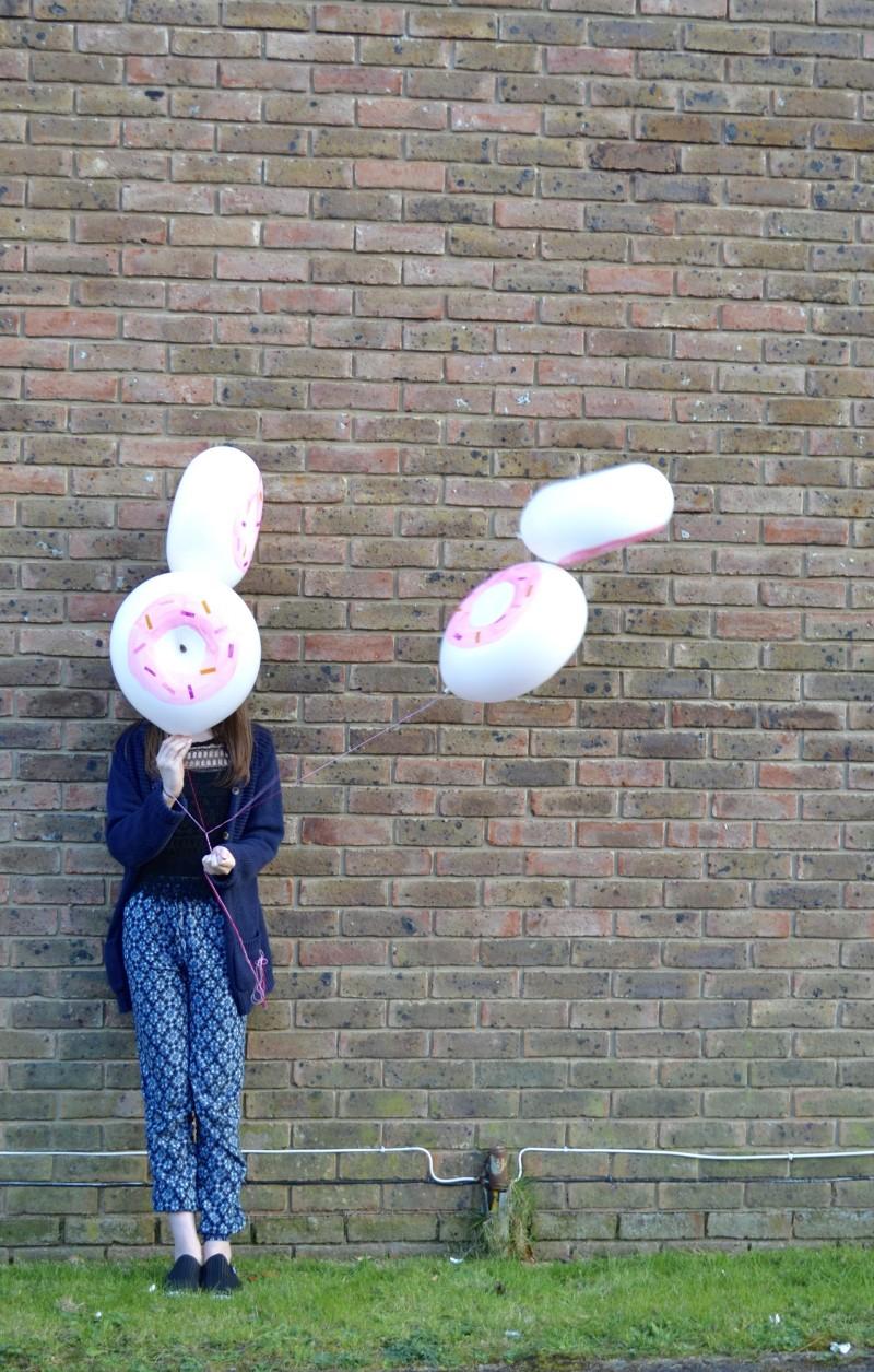 pink doughnut helium balloons balloon time