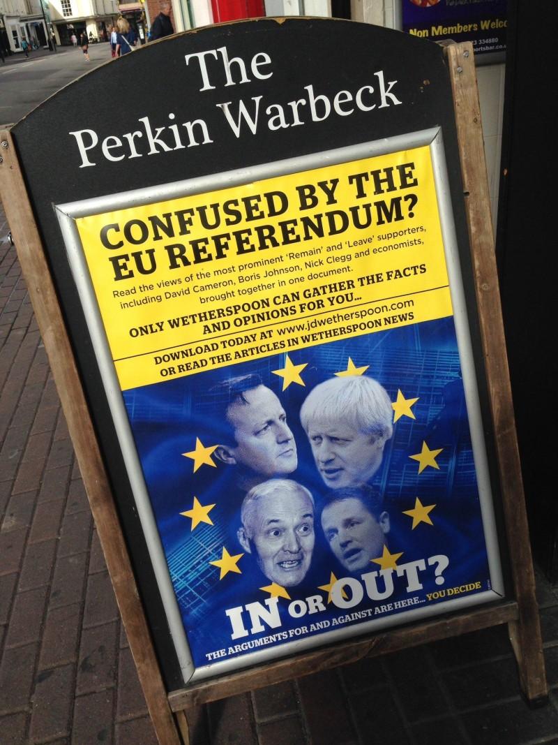 Wertherspoons EU referendum Brexit