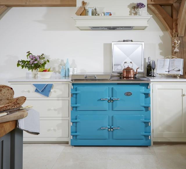 Everhot cooker teal, blue green kitchens