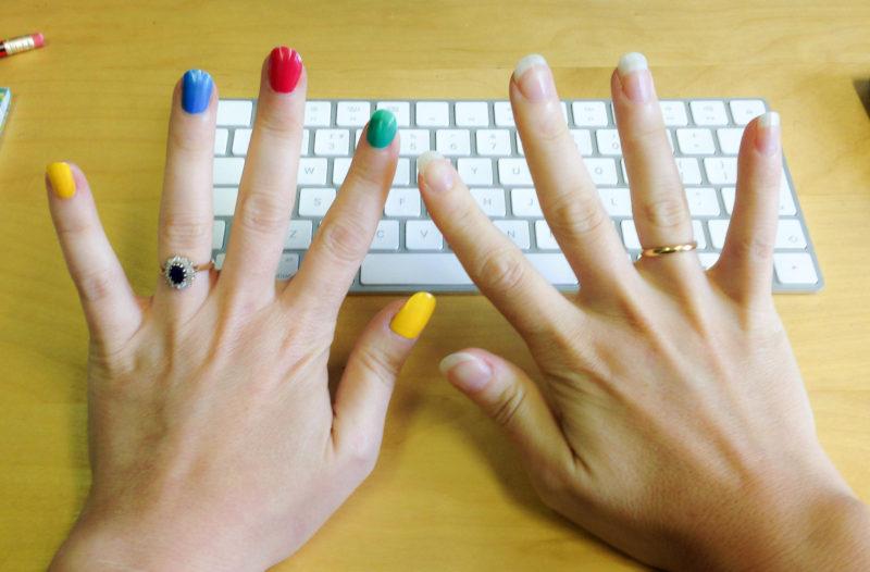 rainbow nail varnish