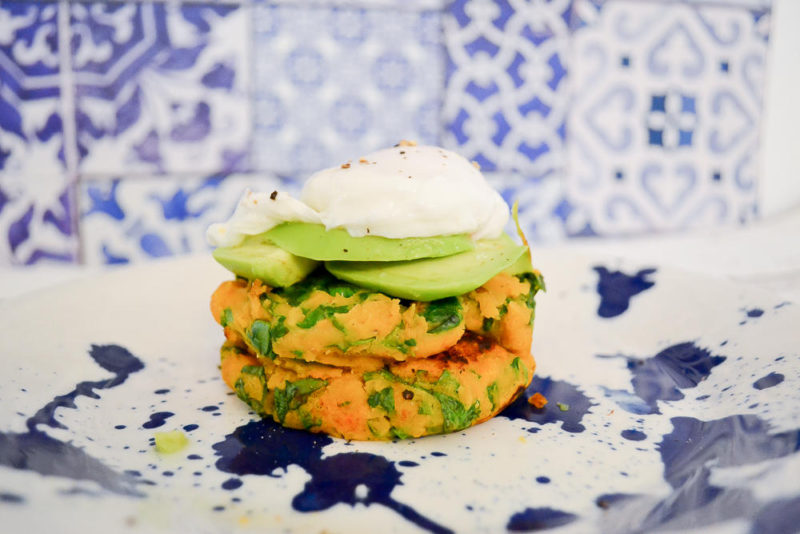 spicy sweet potato and spinach bubble and squeak recipe