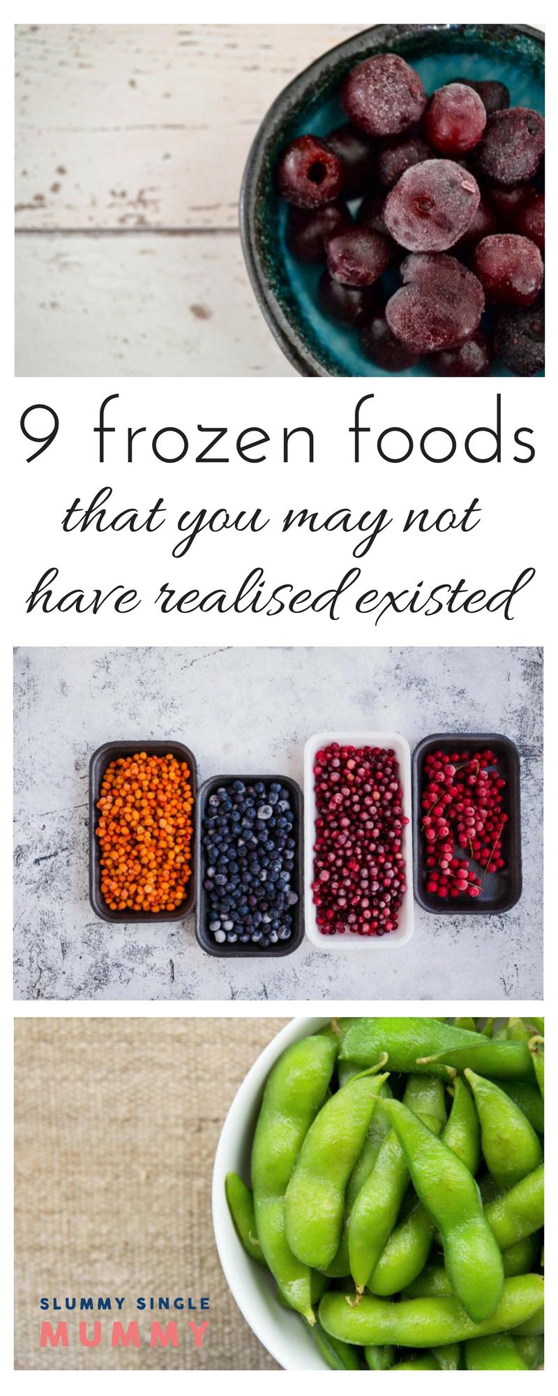 unusual frozen foods