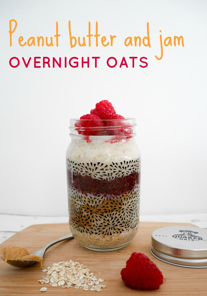 PB & J overnight oats recipe