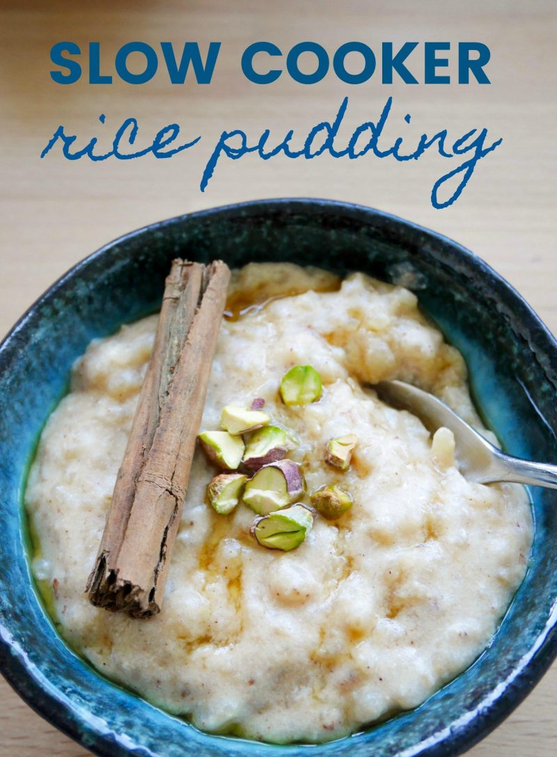 slow cooker crock pot rice pudding recipe