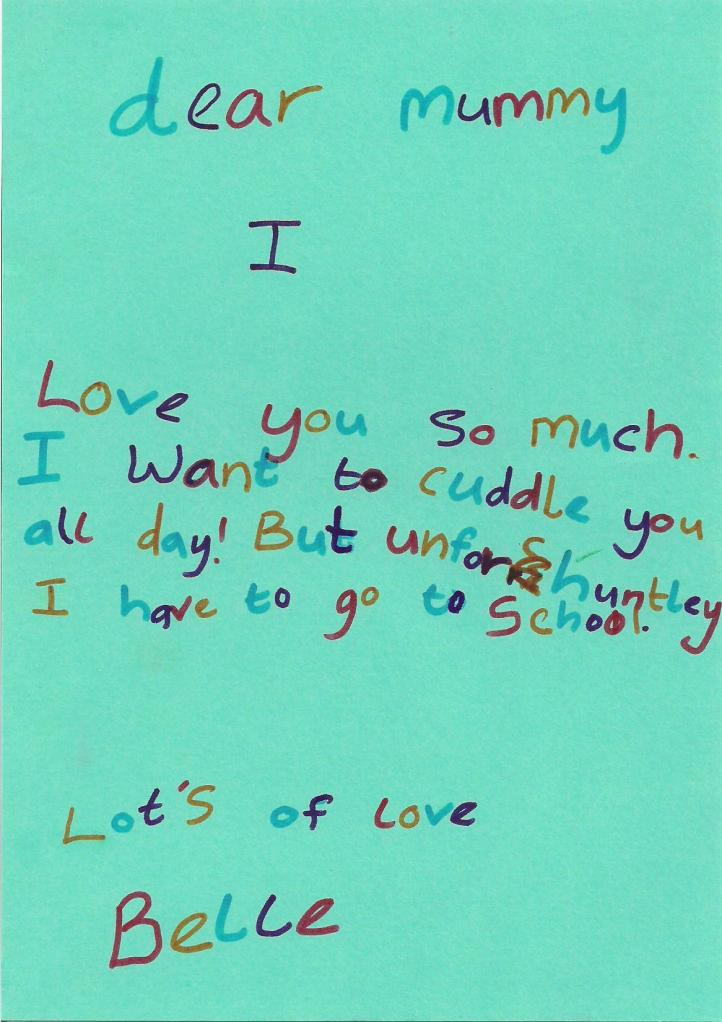 child's love note