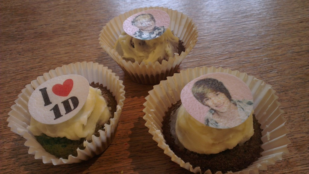 """One Direction cupcakes"""