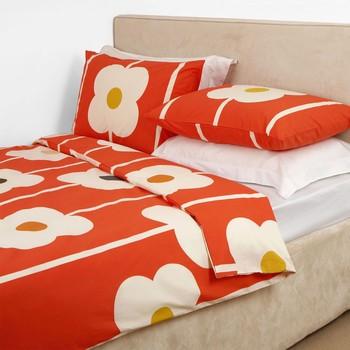 Orla Keily Abascus Tomato Bed Linen.