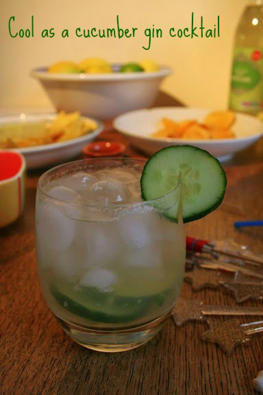 Cucumber and gin cocktail