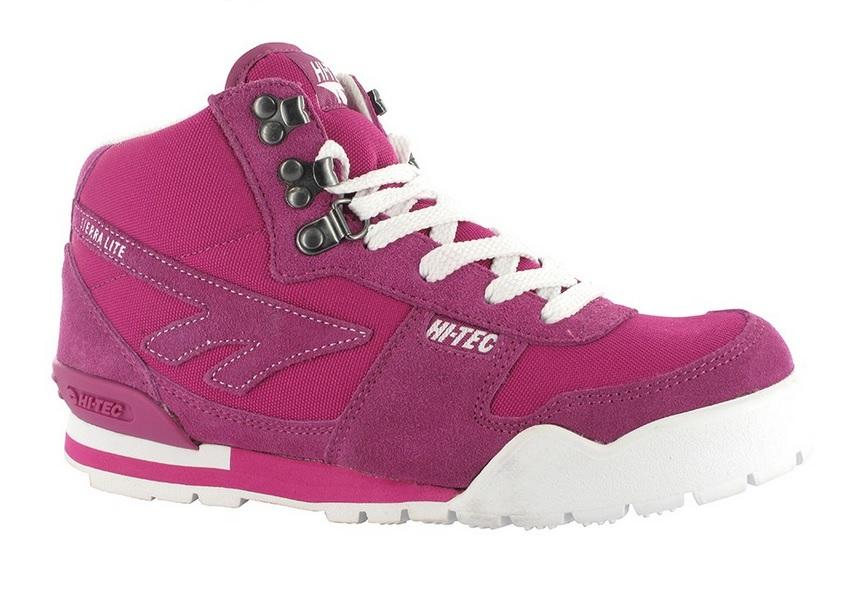 hi-tec pink walking boots