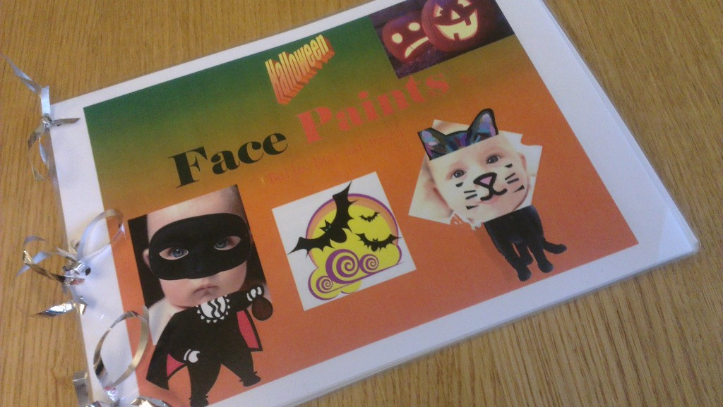 Halloween face paints
