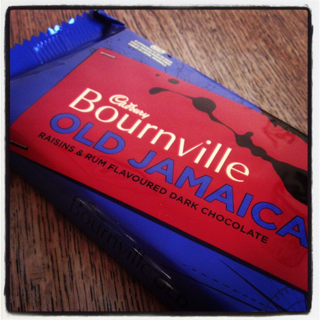 Bournville rum and raisin