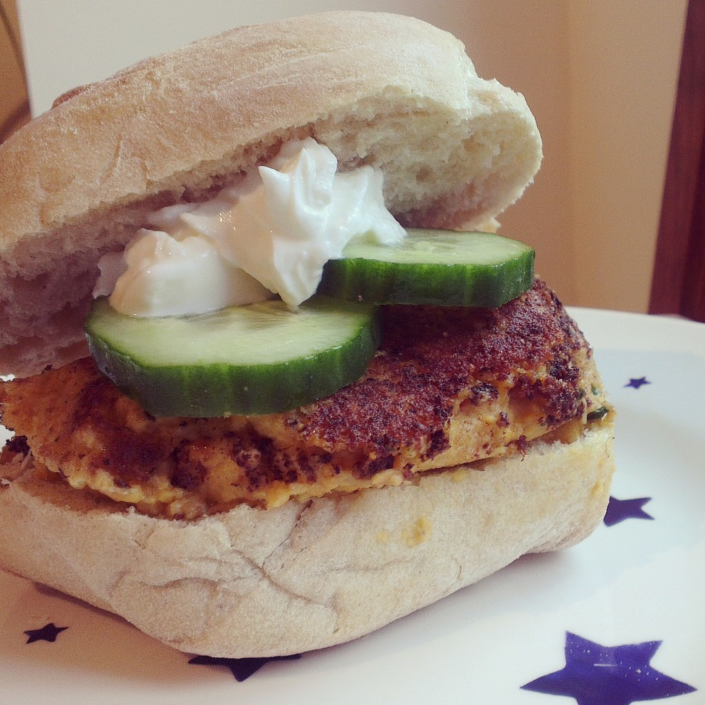 Spicy chickpea burgers