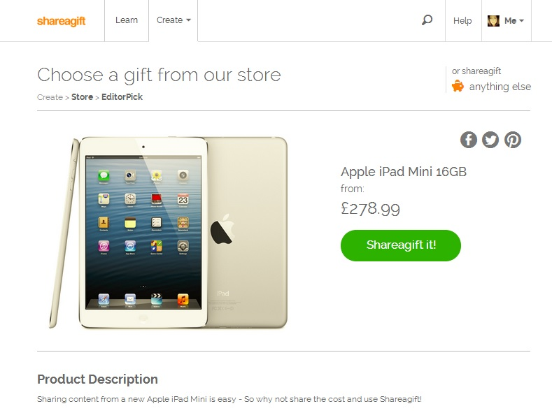 Shareagift ipad mini