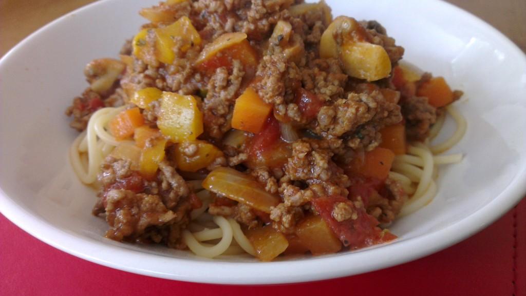 Weight watchers spaghetti Bolagnese