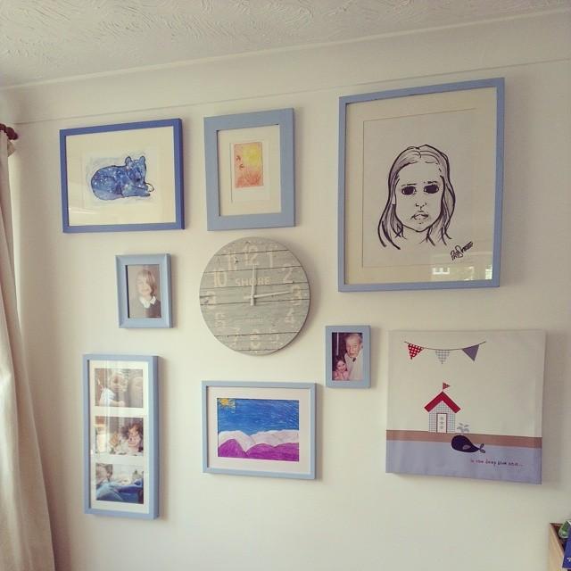 Belle's bedroom chalk paint collage