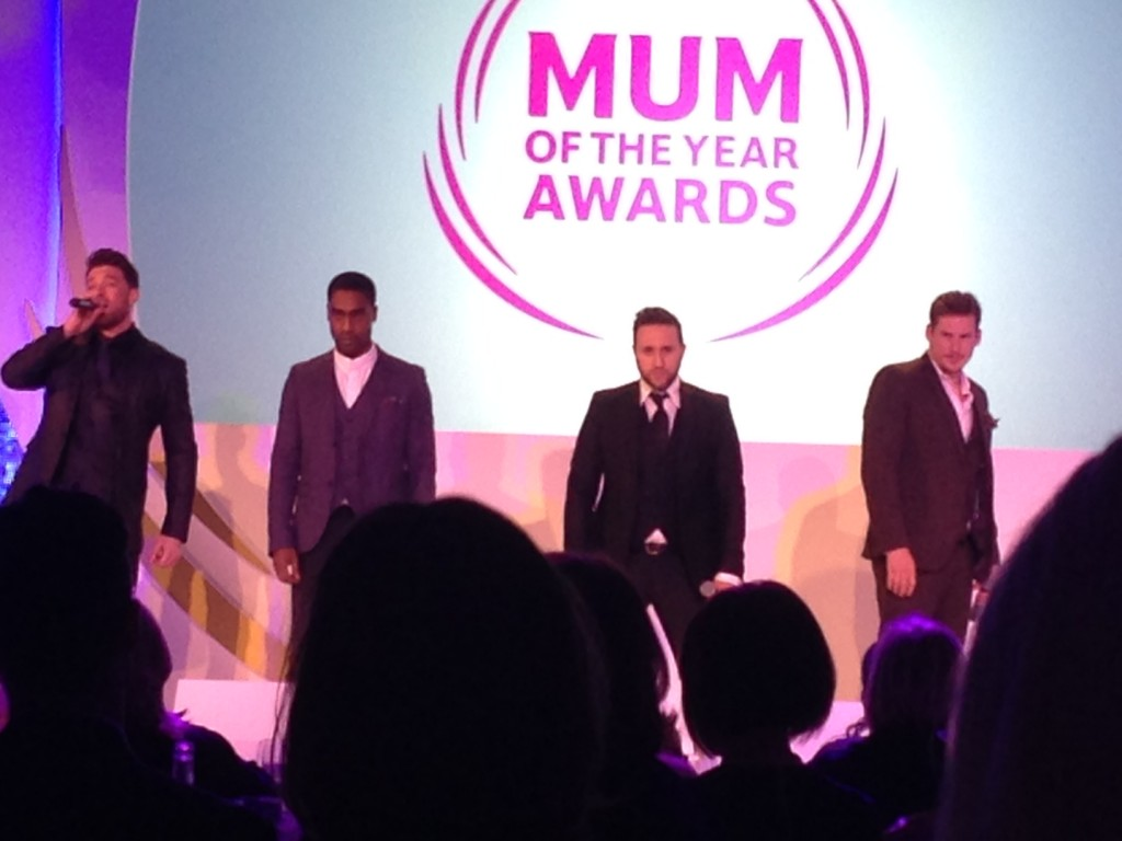 Blue at the Tesco Mum of the Year Awards