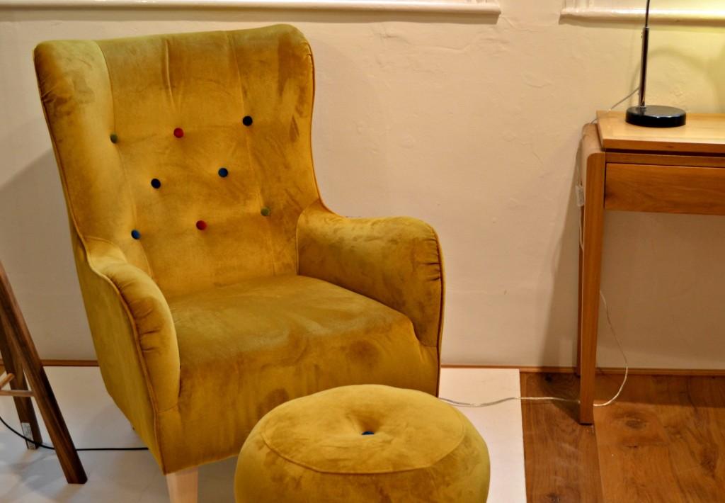 Bristol Guild velvet armchair