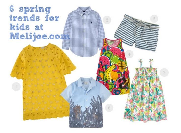 Spring fashion trends for kids at Melijoe.com