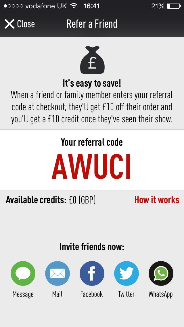 TodayTix discount code