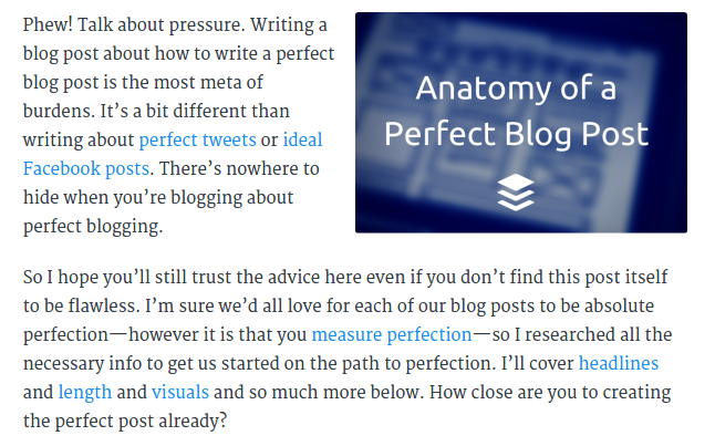 perfect blog post structure