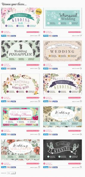personalised wedding posters