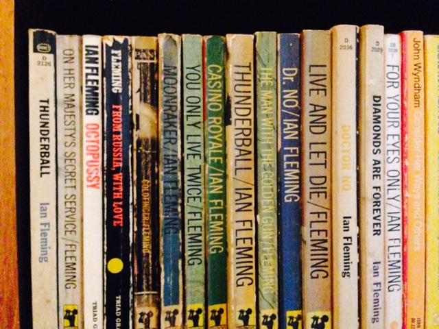 Vintage James Bond books