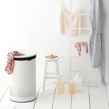 brabantia white laundry bin