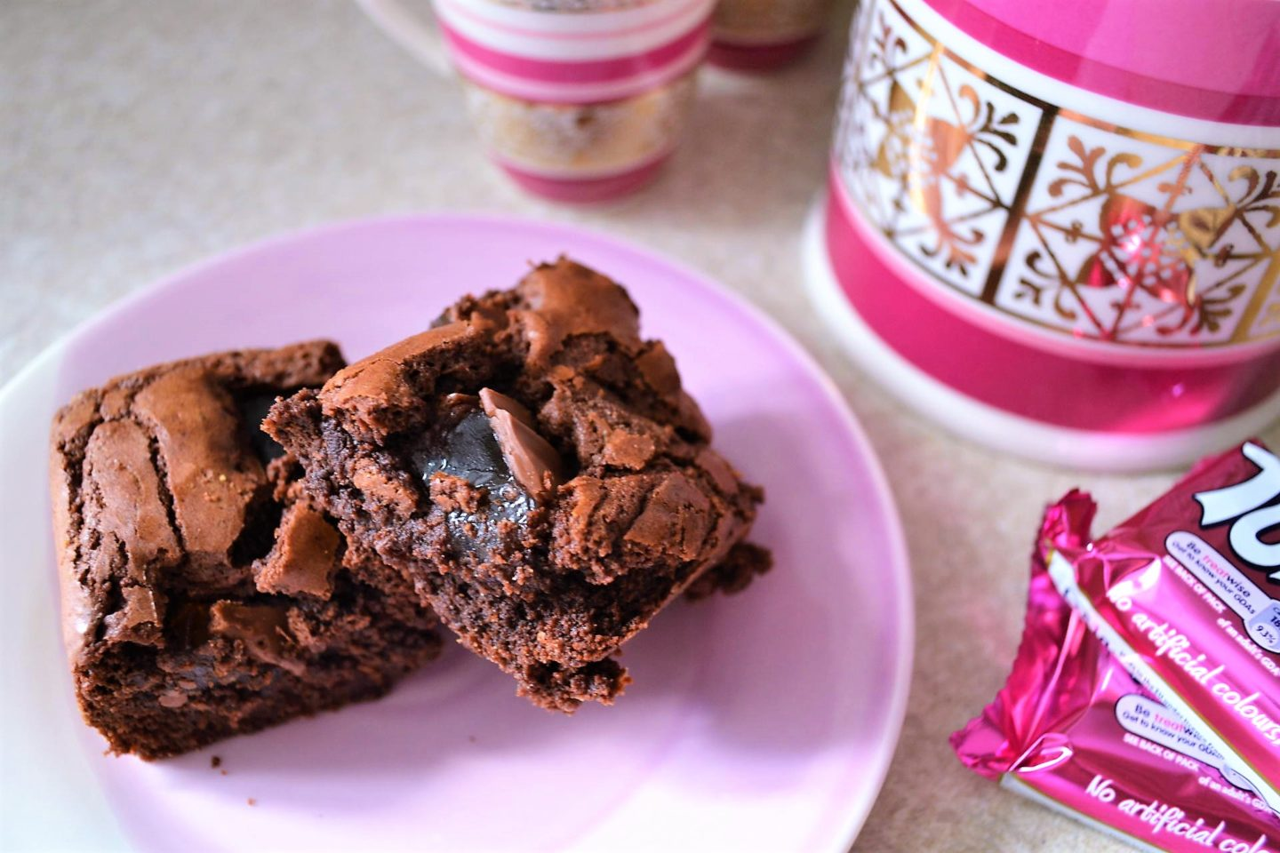 Turkish delight chocolate brownies