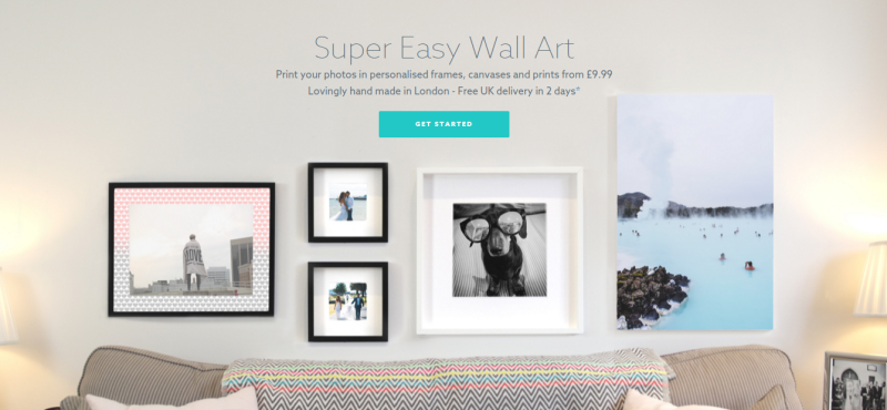WallSnaps personalised wall art competition voucher code