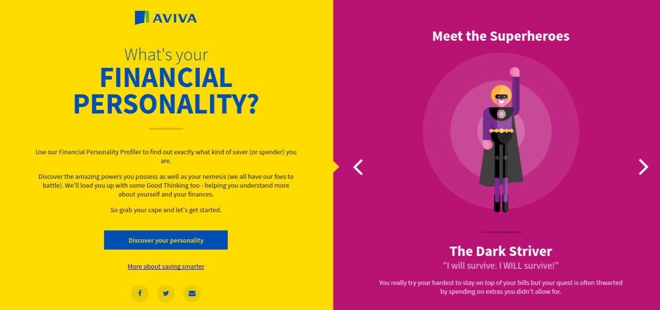 What's your financial personality? Take the quiz from Aviva - Slummy