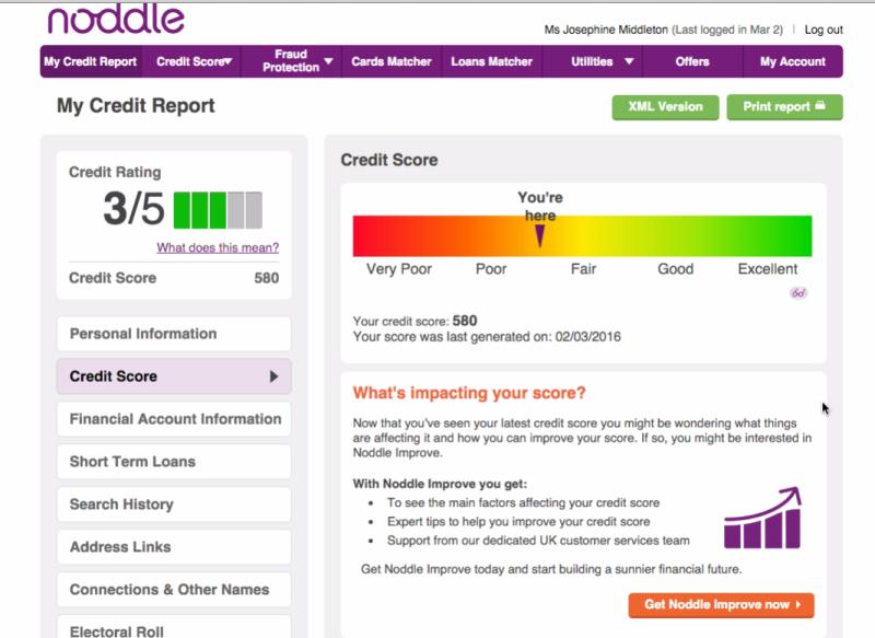 free credit check service Noddle
