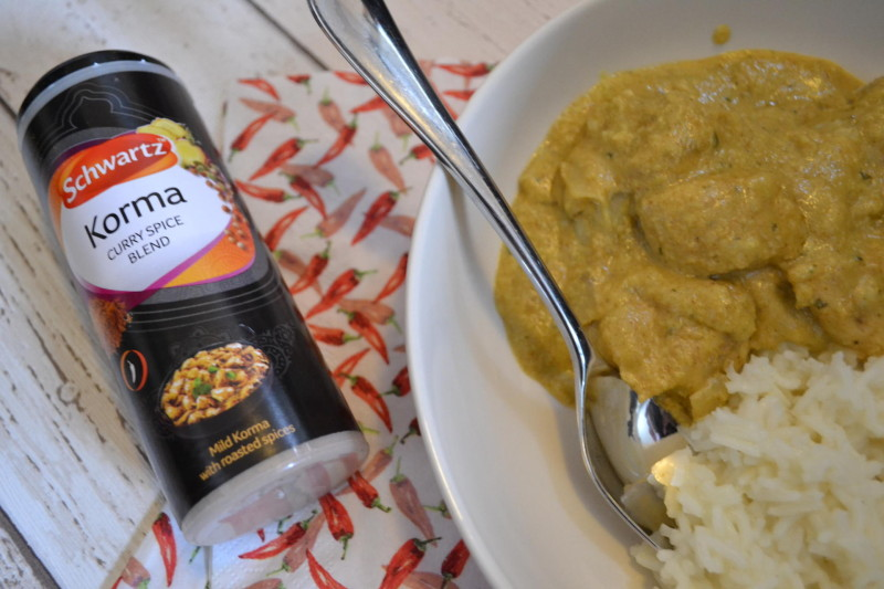 easy dairy free chicken korma curry recipe