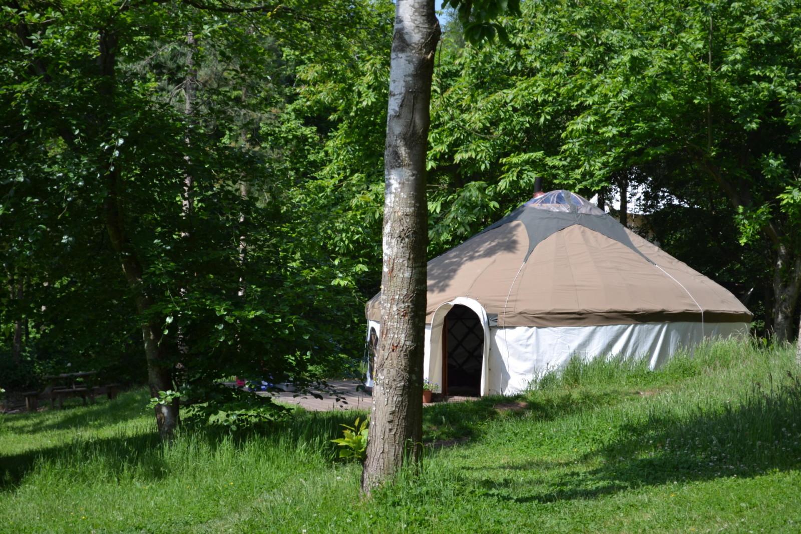 Wood cabin yurt