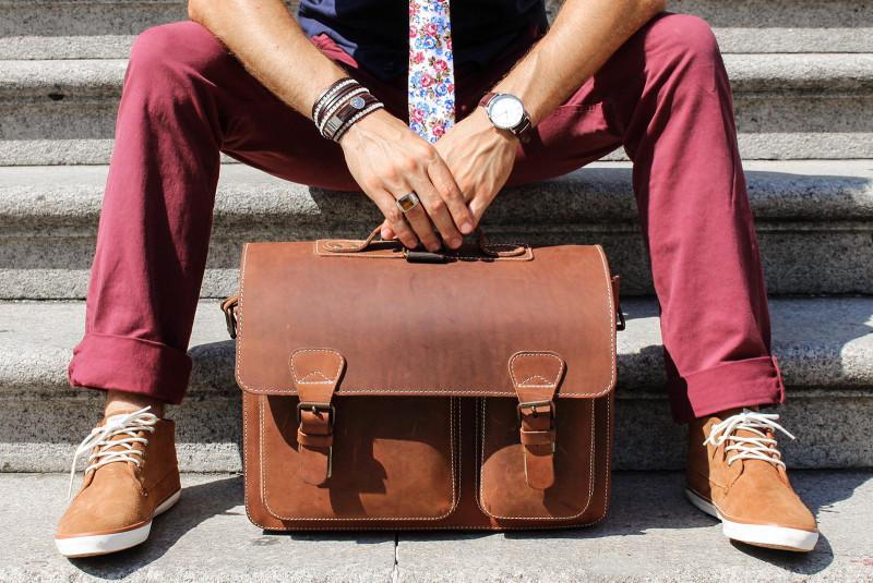 beautiful leather satchel for men Ruitertassen review