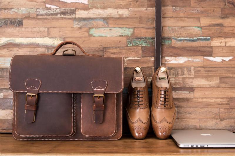 leather briefcase satchel backpack Ruitertassen