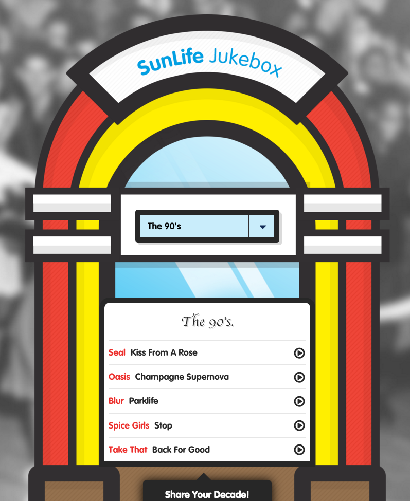 SunLife Jukebox music decades