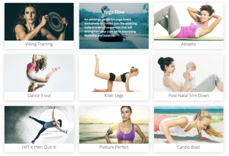Hoolio online workout
