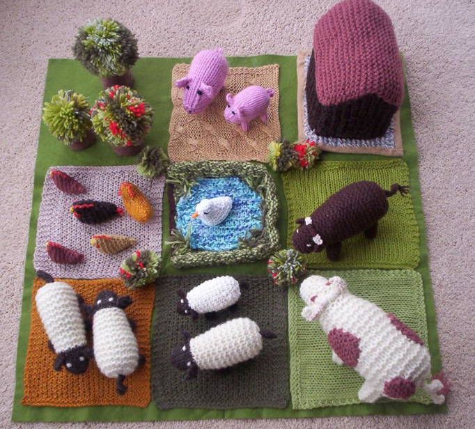 knitted farm