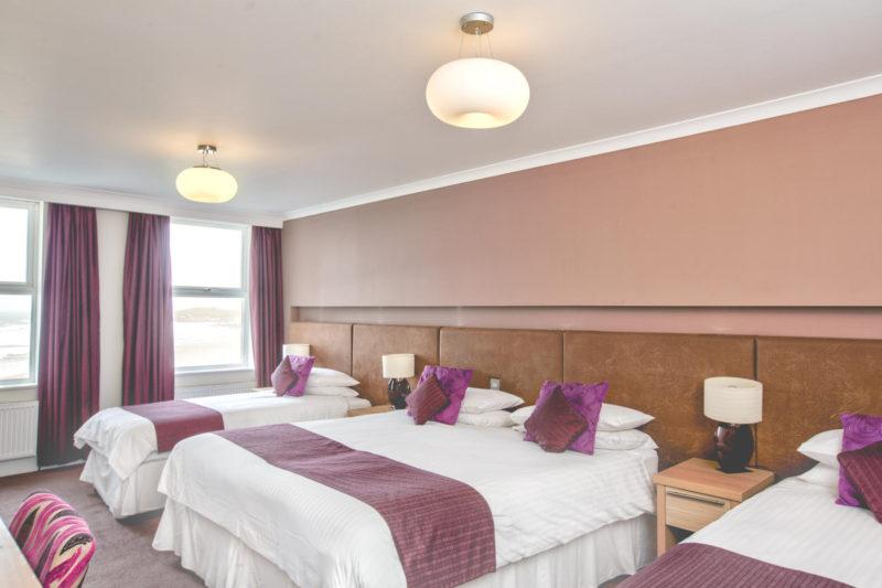 Esplanade Hotel Newquay Sea View Family Room